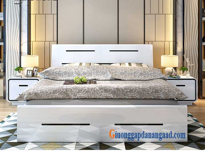 giường màu trắng hiện đại