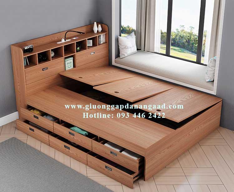 Giường ngủ gỗ công nghiệp có ngăn kéo 1m2