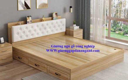 giường ngủ gỗ công nghiệp có ngăn kéo