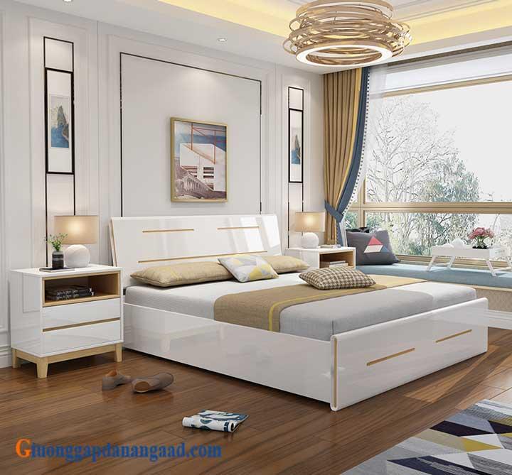 giường ngủ màu trắng cao cấp