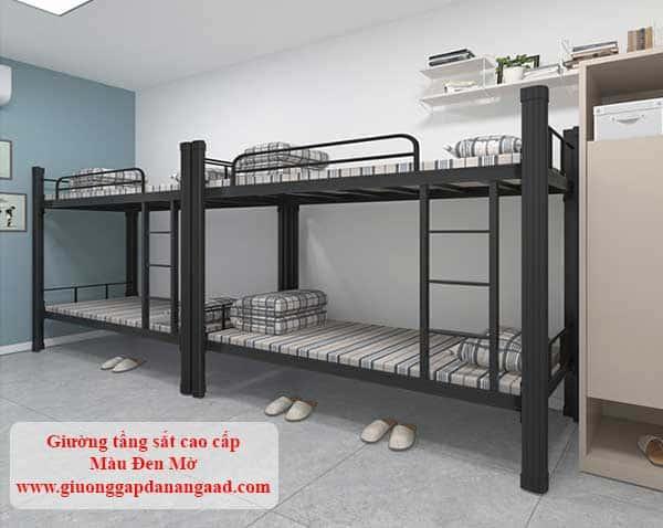giường tầng sắt cao cấp màu đen mờ