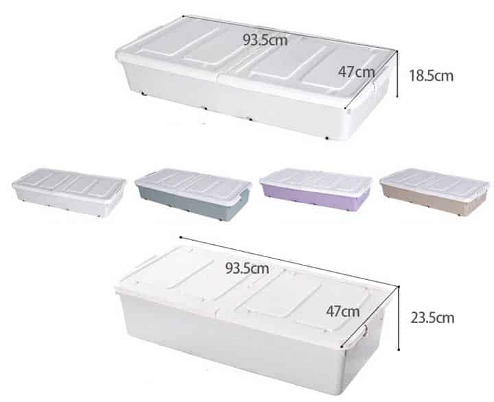 kich thước hộp để đồ bên dưới giường