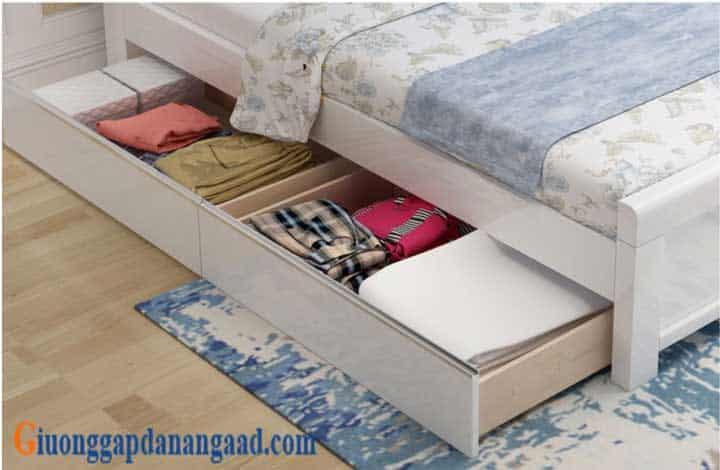 ngăn kéo giường màu trắng