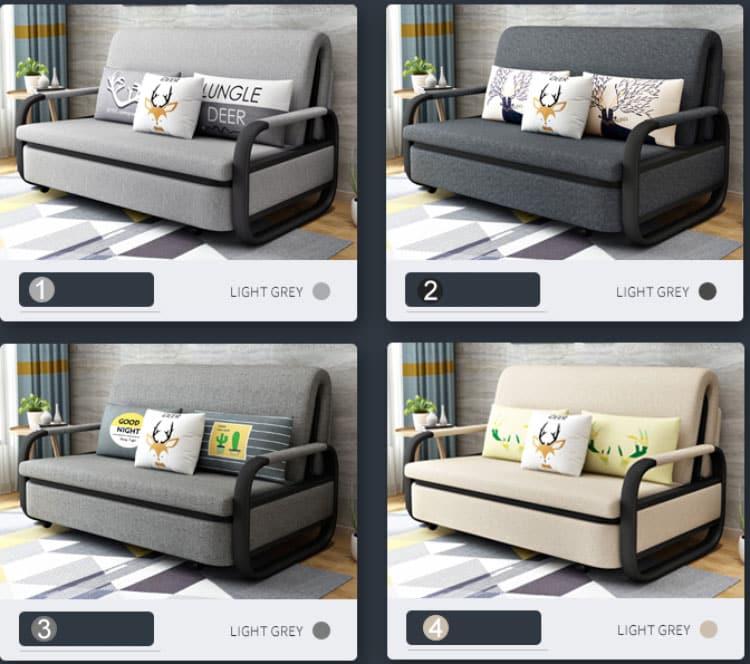 các màu sắc của giường ngủ gấp sofa 2 trong 1
