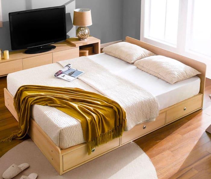 Giường có ngăn kéo Size Queen
