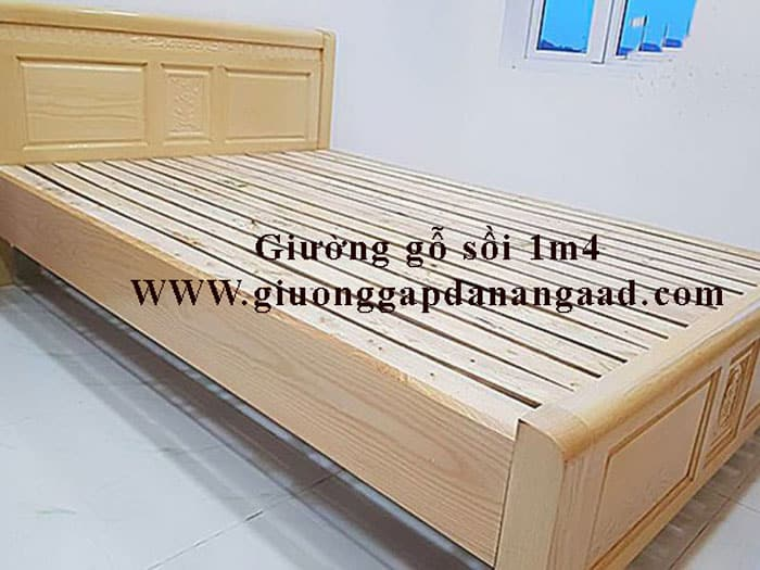 giường ngủ gỗ sồi 1m4