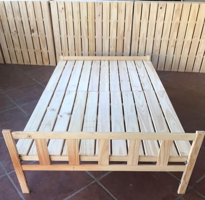 Giường ngủ gỗ thông 1m4