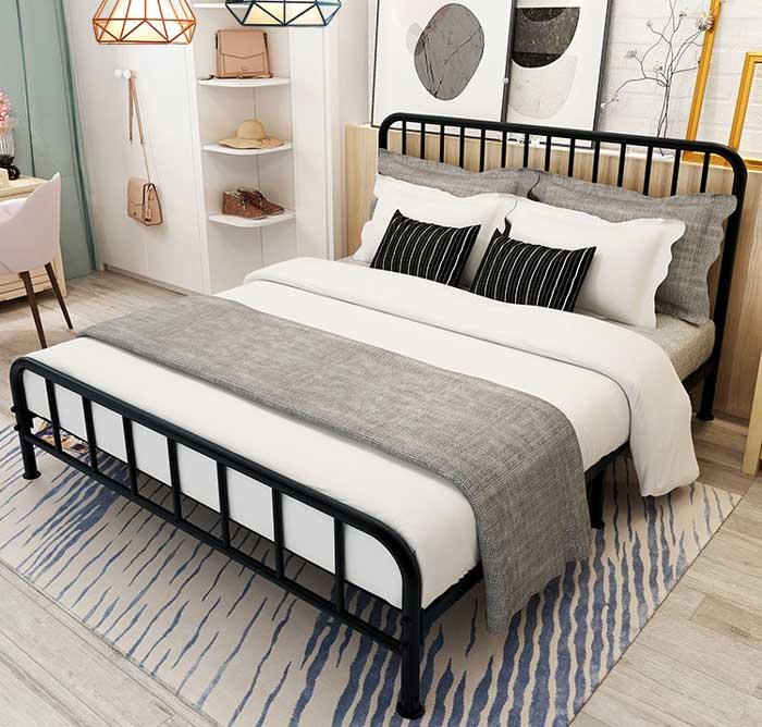 giường sắt 1m4 giá rẻ
