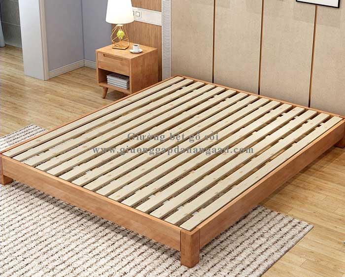 giường ngủ kiểu nhật bằng gỗ sồi nga