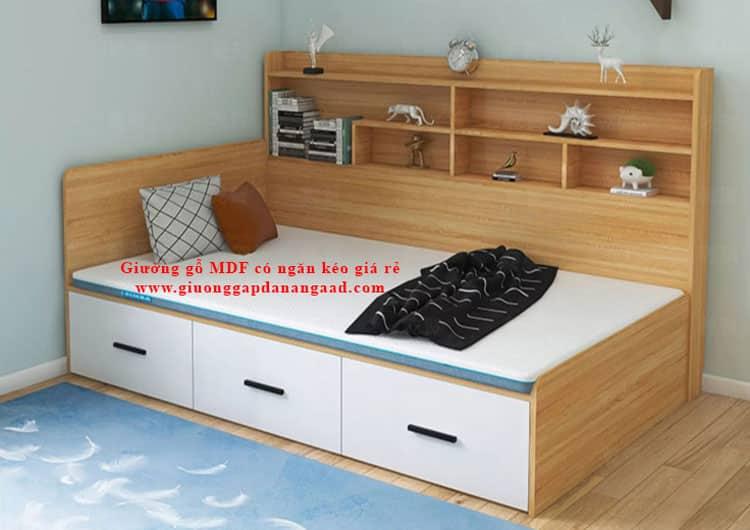 Giường gỗ MDF có ngăn kéo giá rẻ