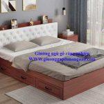 20 Mẫu giường gỗ công nghiệp có ngăn kéo giá rẻ