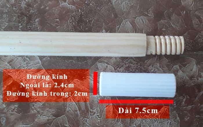 Đầu nối thanh gỗ ZF22 có ren