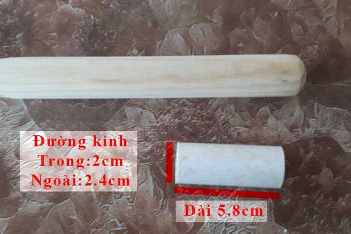 Đầu nối thanh gỗ tròn ZF22 không có ren