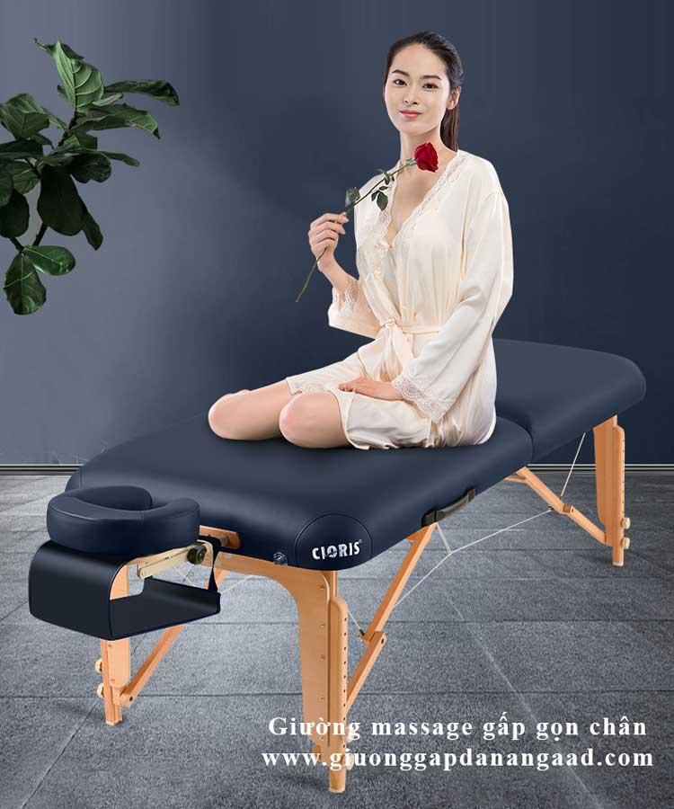 giường massage gấp gọn chân