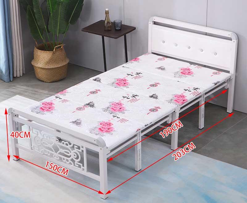 giường ngủ 1m5 hoa đỏ
