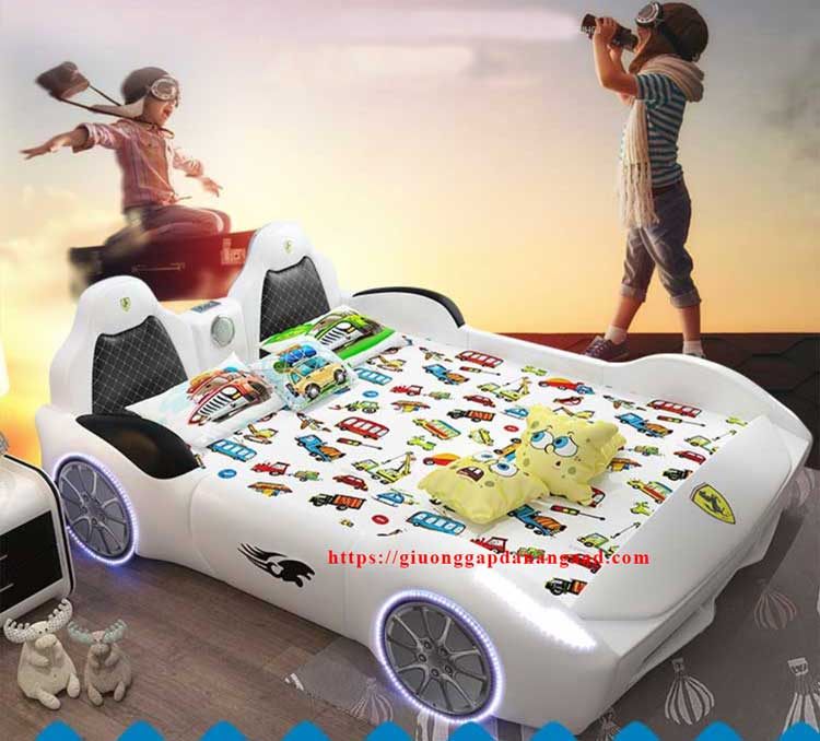 Giường trẻ em hình ô tô thể thao