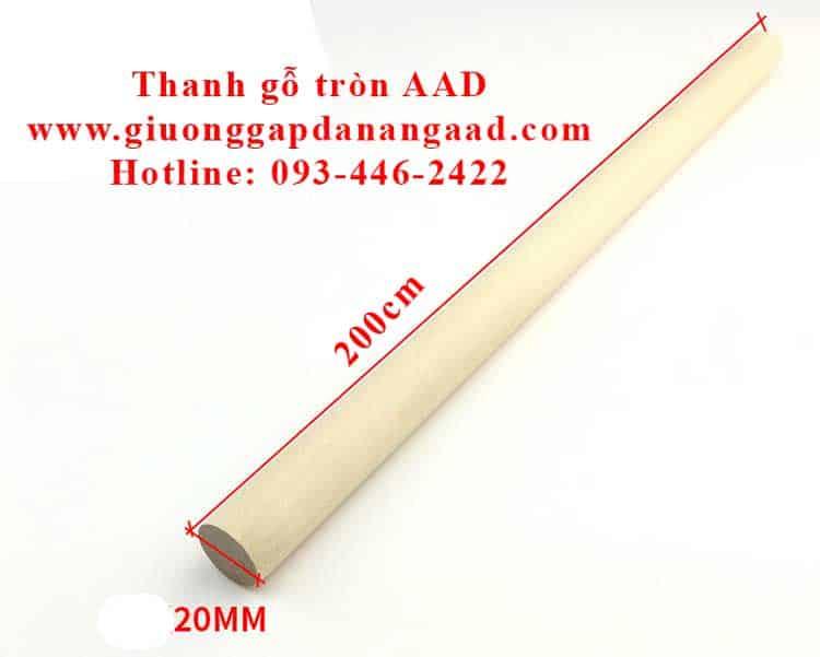 thanh gỗ tròn dài 2m đường kính 2cm