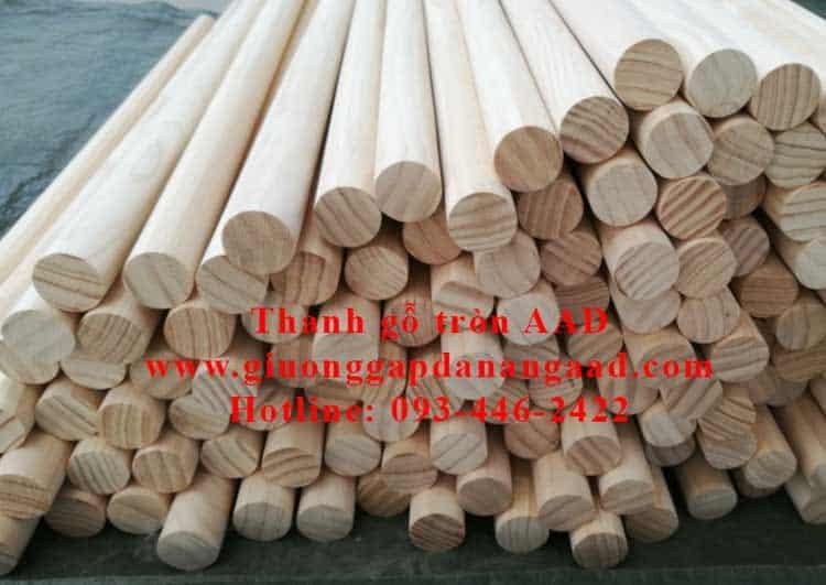thanh gỗ tròn dài 1m8 đường kính 2cm