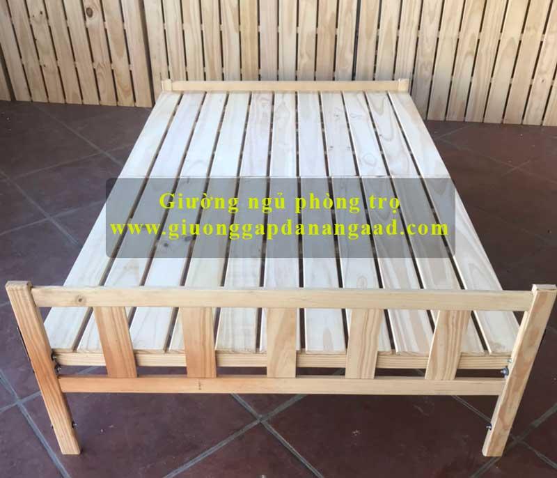 giường gỗ phòng trọ