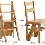 Ghế thang thông minh gấp gọn bằng gỗ đa năng