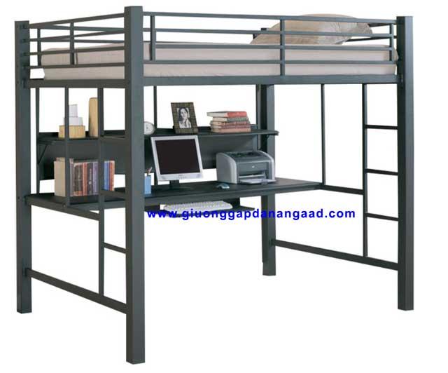 Giường tầng kết hợp bàn làm việc cho người lớn